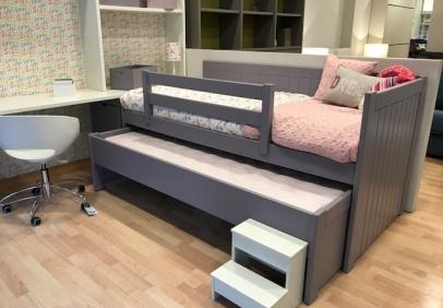 Mueble cama abatible con amplio sof al frente sofas - Sillones que se hacen cama ...