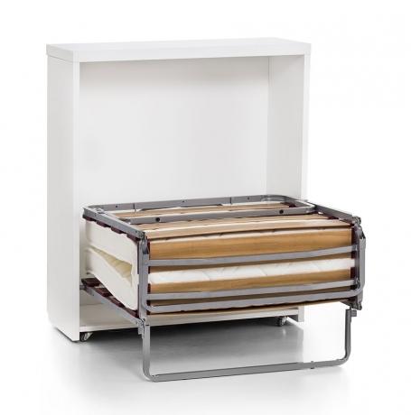 Mueble cama para hotel, que simula una cómoda de cajones