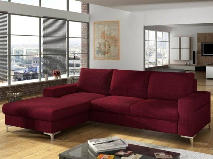 Cómo combinar un sofá cama burdeos con el resto del mobiliario