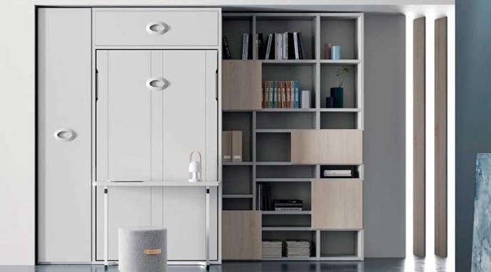 Vivir en tu propia oficina con muebles cama abatibles y mesas abatibles incorporadas