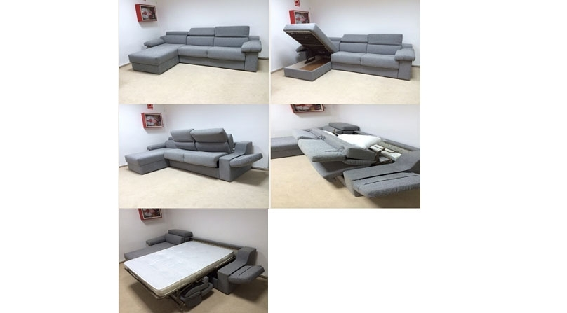 Sof cama con respaldo abatible y chaise longue sofas for Oferta sofa cama chaise longue