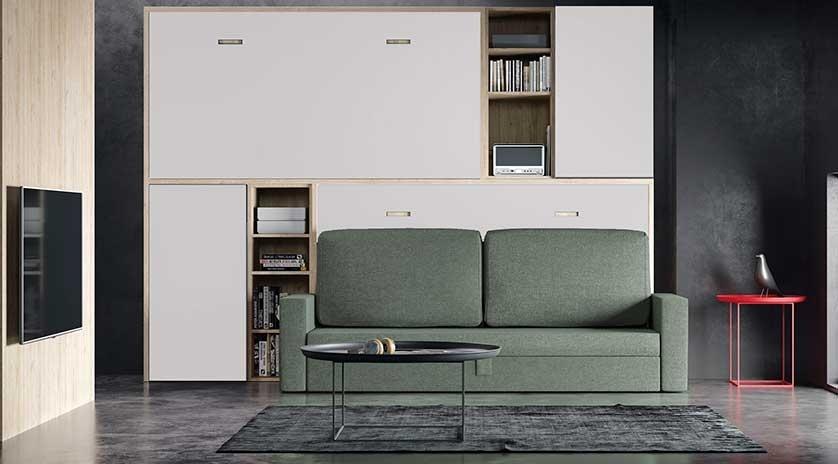 Literas abatibles contrapeadas con sofá