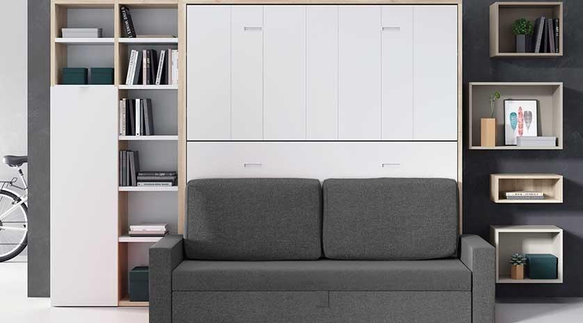 Literas abatibles con sofá