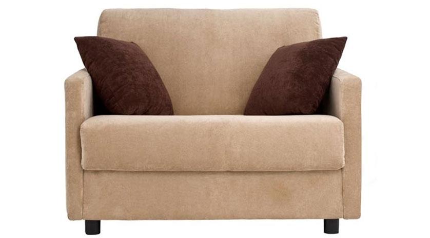 Sill n cama con brazo estrecho sofas cama cruces for Sillones que se hacen cama