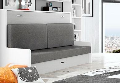 Muebles cama abatibles con sof horizontales individuales - Muebles con cama abatible ...