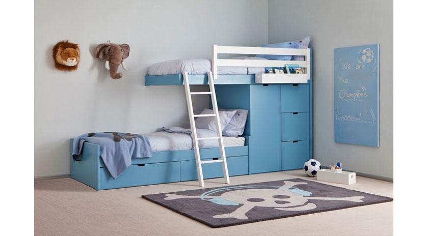 Litera tren con cama nido debajo sofas cama cruces - Literas con sofa cama debajo ...