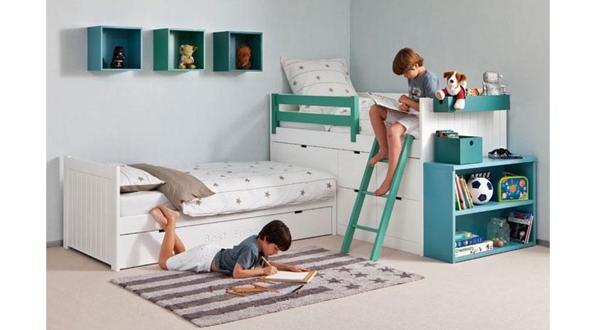 Habitaci n infantil con cama nido en ngulo sofas cama - Habitacion infantil cama nido ...