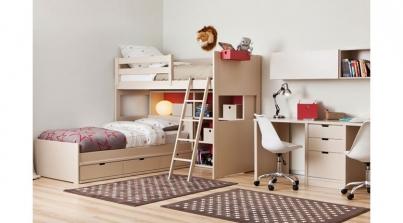 Litera con cama nido para habitaciones peque as sofas cama cruces - Literas para habitaciones pequenas ...