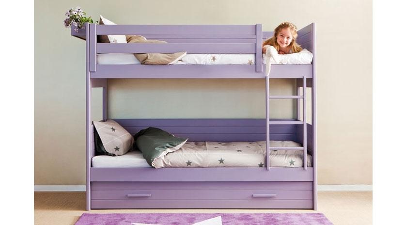 Litera con cama nido para habitaciones peque as sofas - Habitaciones infantiles cama nido ...