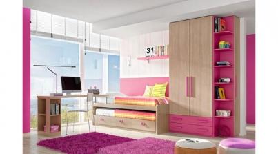 Dormitorio con cama nido cajones y somier inferior - Sofa cama juvenil ...