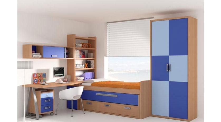 Dormitorio con cama nido somier extra ble y cajones sofas cama cruces - Somier con cajones ...