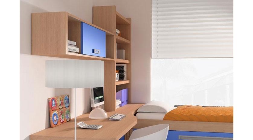 Dormitorio con cama nido somier extra ble y cajones - Somier con cama nido ...