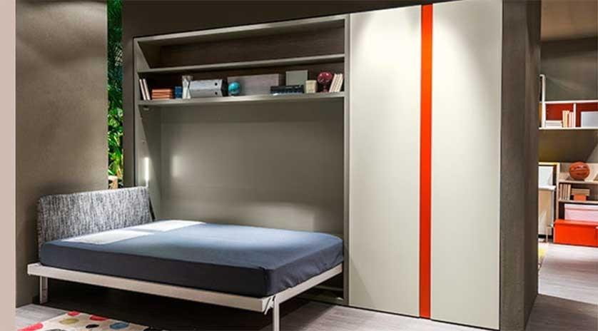 mueble cama abatible matrimonio en horizontal