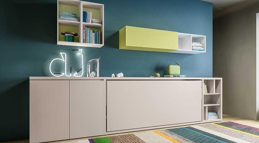mueble cama individual abatible moderno