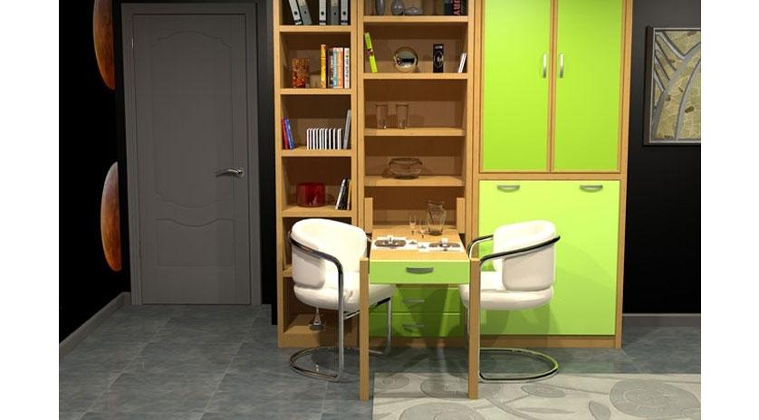 Mueble cama plegable de apertura frontal | Sofas Cama Cruces