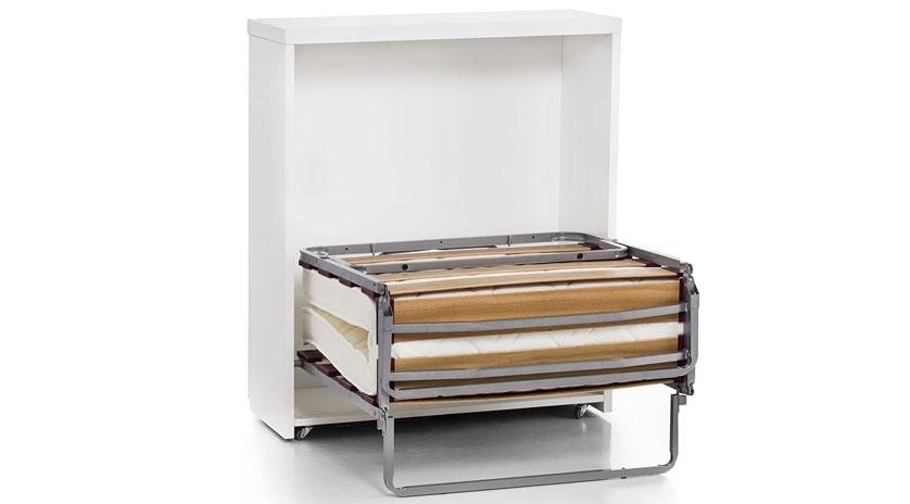 Mueble cama plegable lacado sofas cama cruces for Muebles la fabrica sofas cama