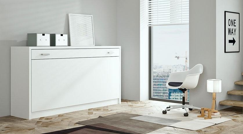 Mueble cama abatible horizontal cerrado