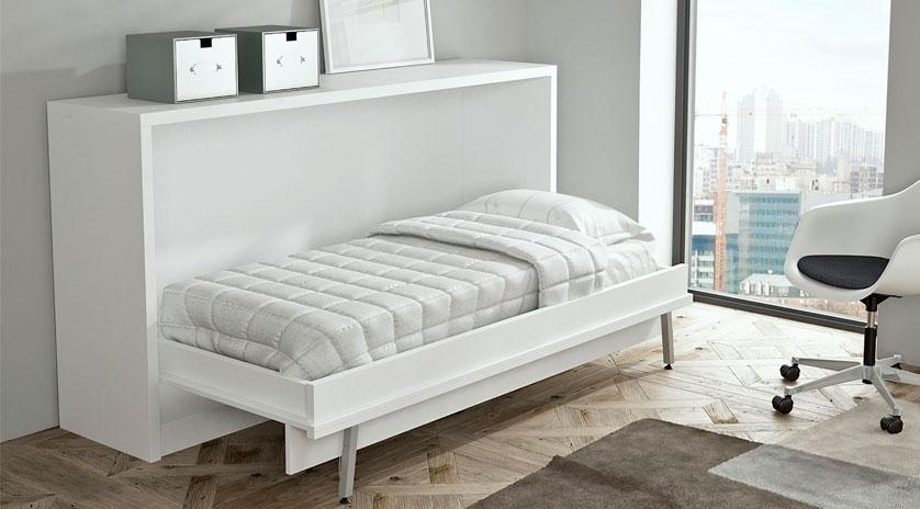 Mueble cama abatible horizontal abierto