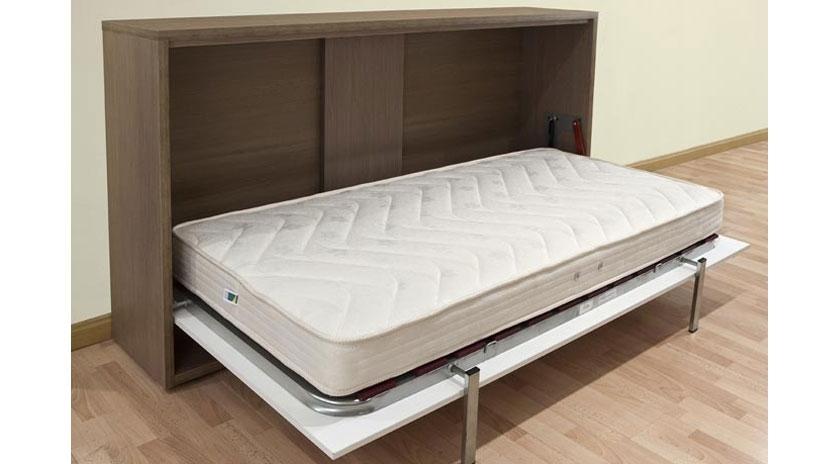 Sencillo y econ mico mueble cama individual sofas cama cruces - Hacer una cama abatible ...