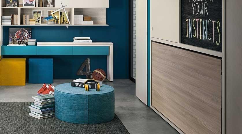 Mueble cama de 90 abatible con armarios corredera arriba