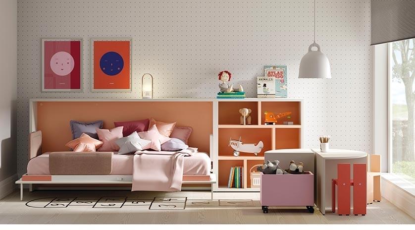 Mueble cama individual de 90 x 190