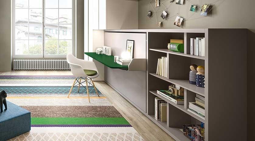 Muebles cama abatible en horizontal