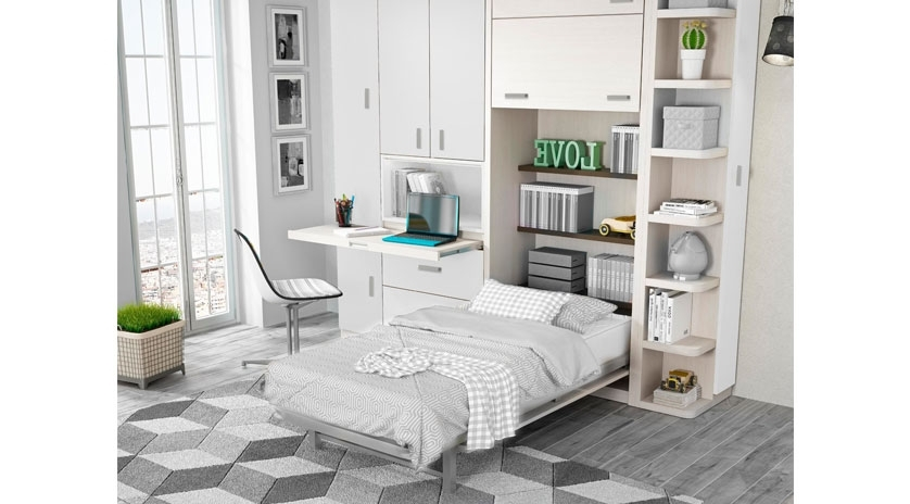 Mueble cama vertical individual sofas cama cruces - Cama mueble abatible ...