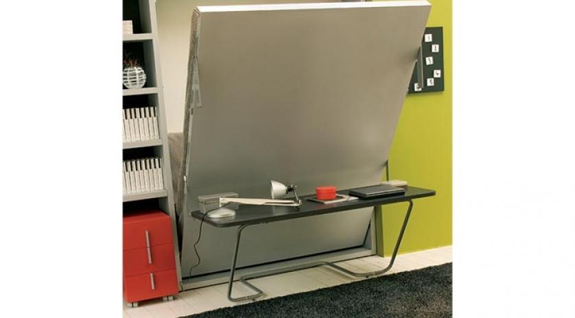 Cama abatible individual de 120 con mesa escritorio - Cama escritorio abatible ...