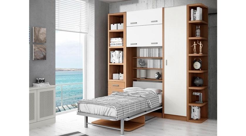 Mueble abatible con mesa incorporada sofas cama cruces - Mueble con cama abatible ...
