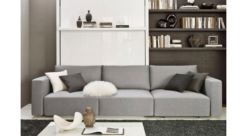 Mueble abatible vertical de matrimonio con sof y chaise for Muebles lufe sofa cama