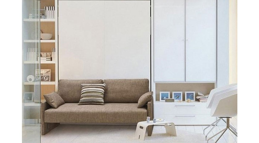 Mueble cama de matrimonio con sof sofas cama cruces for Sofa cama de pared