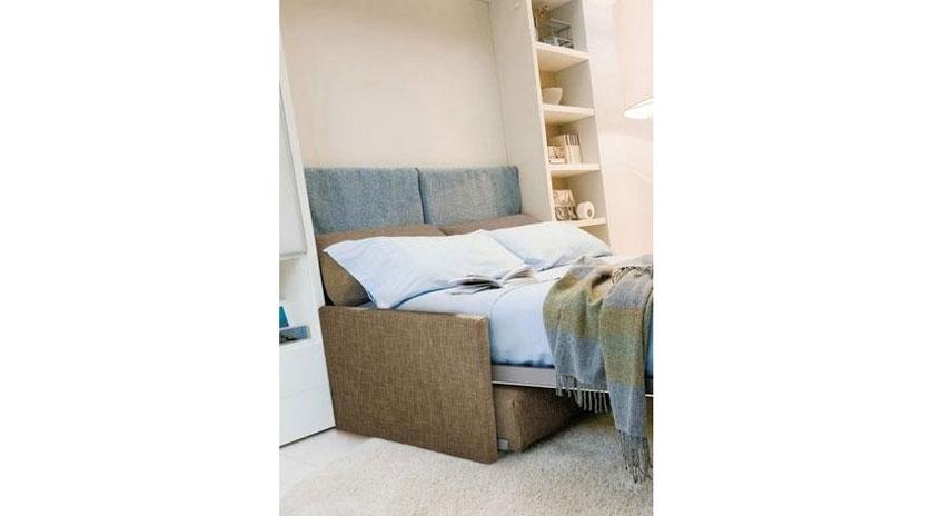 Mueble cama de matrimonio con sof sofas cama cruces for Mueble cama matrimonio
