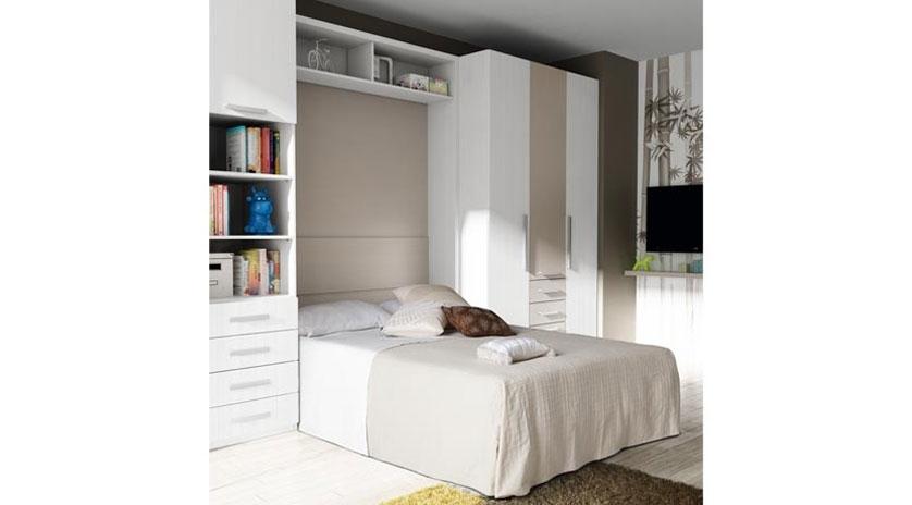 Cama abatible de matrimonio con medidas reducidas sofas for Muebles la fabrica sofas cama