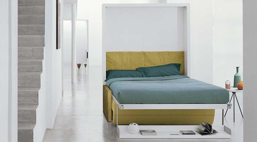 Mueble cama abatible de 150 x 200 con sof relax sofas - Camas de 150 ...