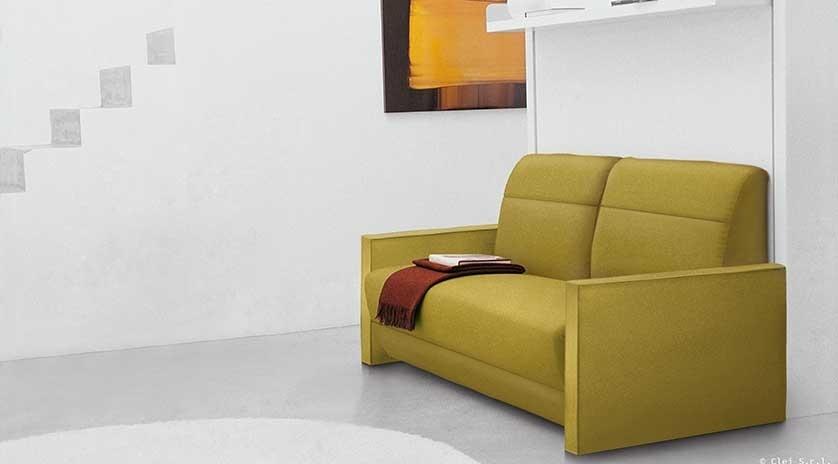 Mueble cama abatible de 150 x 200 con sof relax sofas - Mueble sofa cama ...