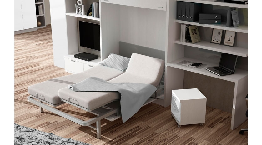 Muebles para cama gallery of dormitorio the wave con for Amazing camas abatibles
