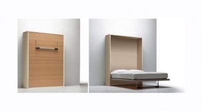 Mueble cama sencillo y econ mico sofas cama cruces for Mueble cama abatible