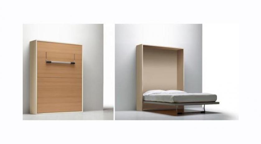 Mueble cama de matrimonio de l neas depuradas sofas - Camas muebles plegables ...