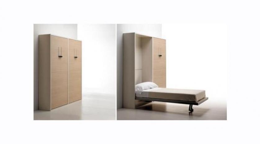 Mueble camas gemelas individual de l neas depuradas - Camas muebles abatibles ...
