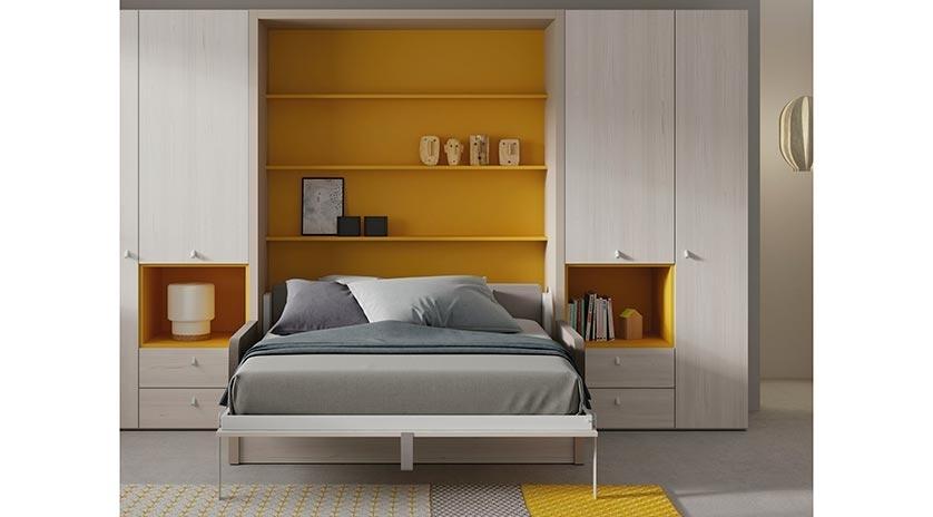 Mueble cama con sof delante sofas cama cruces - Muebles rey sofa cama ...