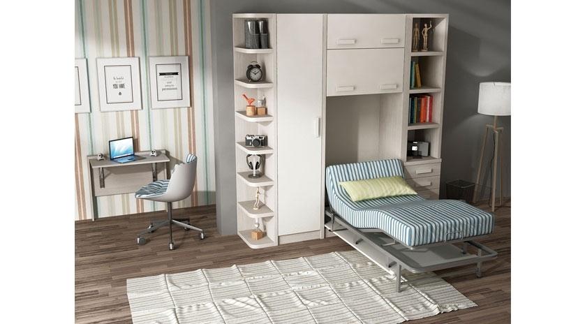 Mueble cama abatible con cama articulada sofas cama cruces - Muebles cama abatibles ...