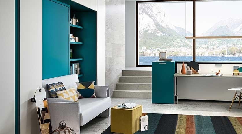 Cama abatible vertical individual sin mueble a la pared - Cama mueble abatible ...