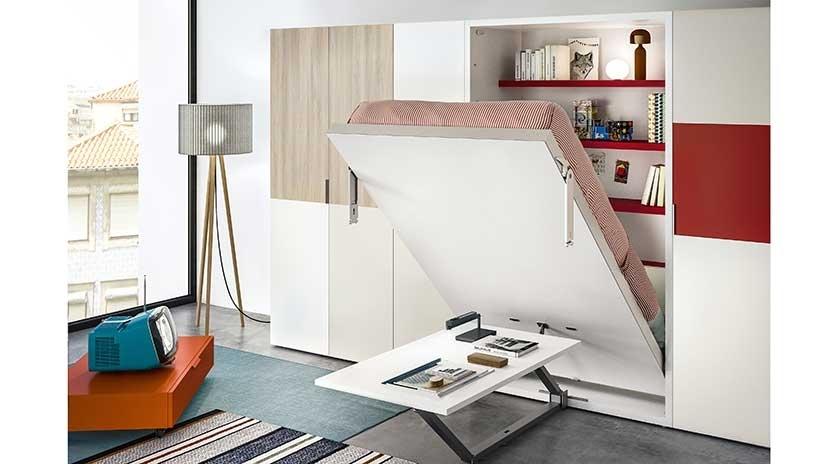 Cama abatible individual de 90 con mesa escritorio - Muebles sofas camas ...