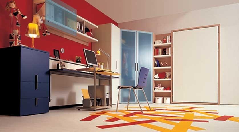 Cama abatible con sistema de apertura vertical sofas - Sistema cama abatible ...