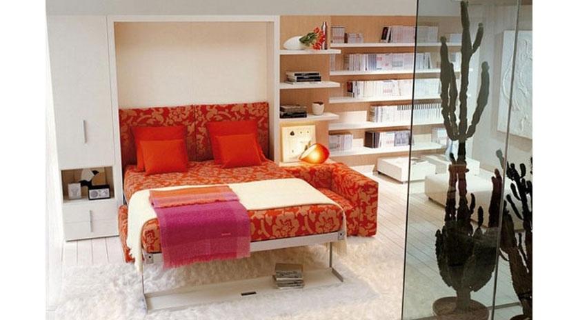 Mueble cama abatible con sof delante sofas cama cruces - Mueble con cama abatible ...