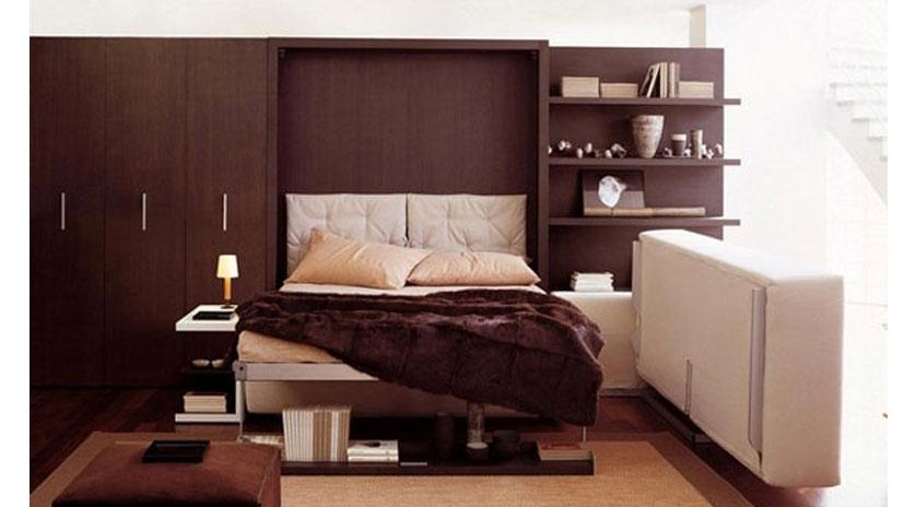 Cama abatible con sof rinconero sofas cama cruces - Muebles con cama abatible ...