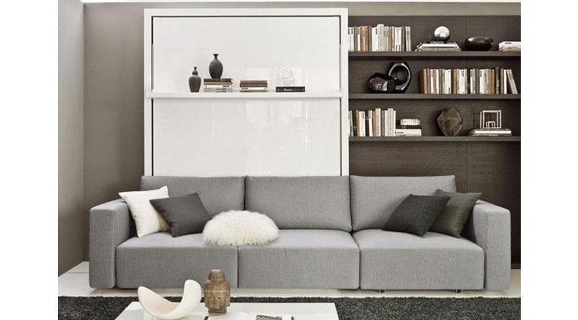 Mueble cama abatible con amplio sof al frente sofas - Mueble sofa cama ...