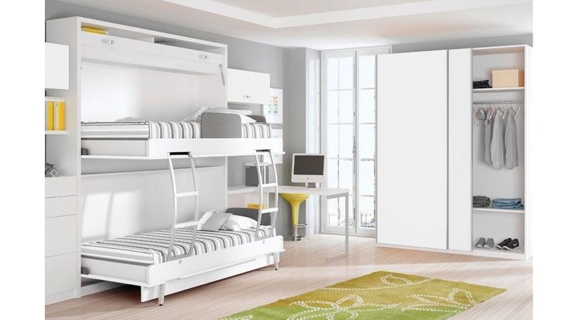Litera abatible de 80 x 190 horizontal sofas cama cruces - Camas abatibles literas ...