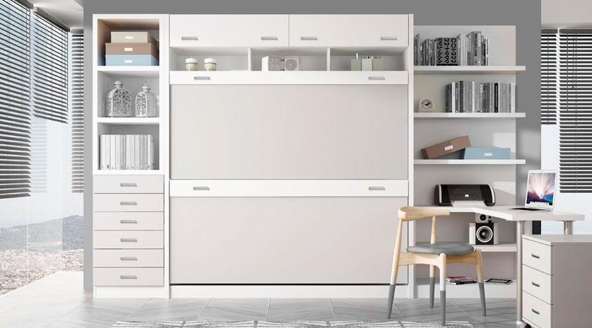 Litera abatible horizontal en color blanco | Sofas Cama Cruces