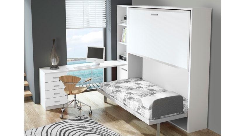 Litera abatible horizontal con marco met lico y con poco - Muebles literas abatibles ...
